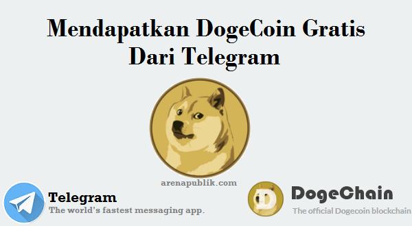 Mendapatkan DogeCoin Gratis Dari Telegram