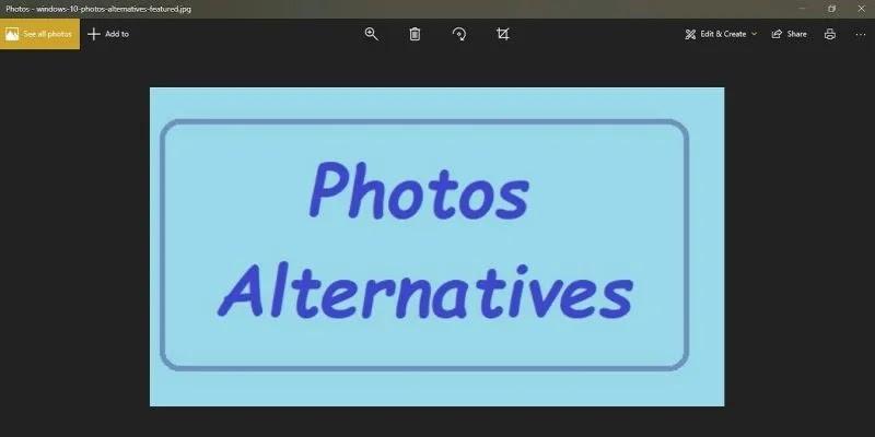 بدائل صور Windows 10