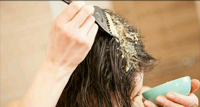 شعر رطب و ملمس كالحررير من اول مرة ،، مع ماسك منزلي طبيعي شبيه للبروتين