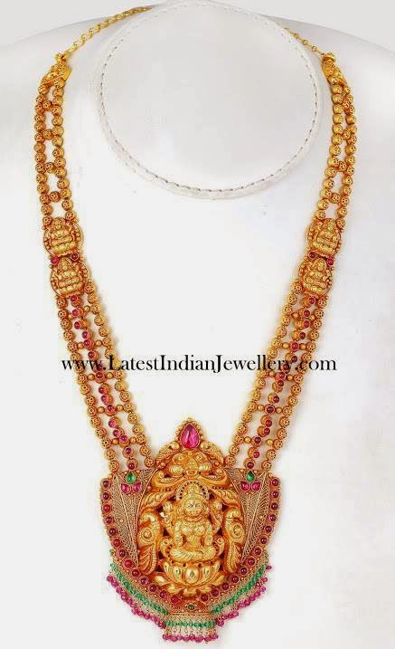 Latest Indian Temple Jewellery Haram