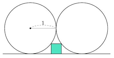 床と2つの円に囲まれた正方形