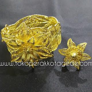 gelang tembaga lapis gold