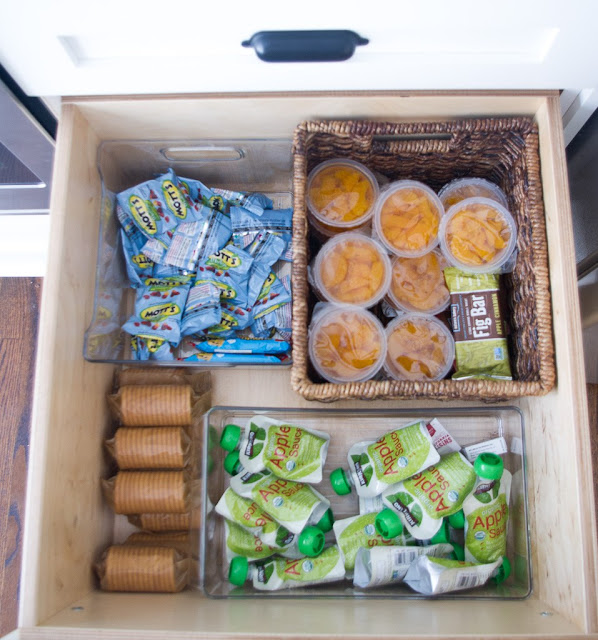 snack drawer, guest ideas, snack ideas