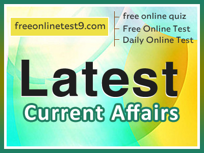 Current Affairs 2020 Online Test