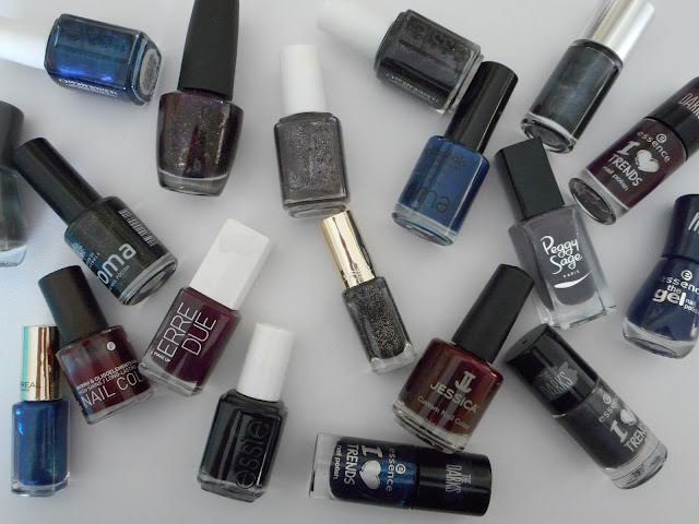 Dark nail polishes, Winter 2015/2016