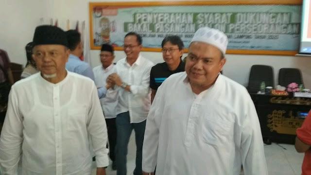 pilwakot bandar lampung media online lampung - Pendukung Hi.Firmansyah Y.A Alfian dan Prof.Bustomi Mengawal Pendaftaran di KPU Kota Bandar Lampung - komisi informasi lampung