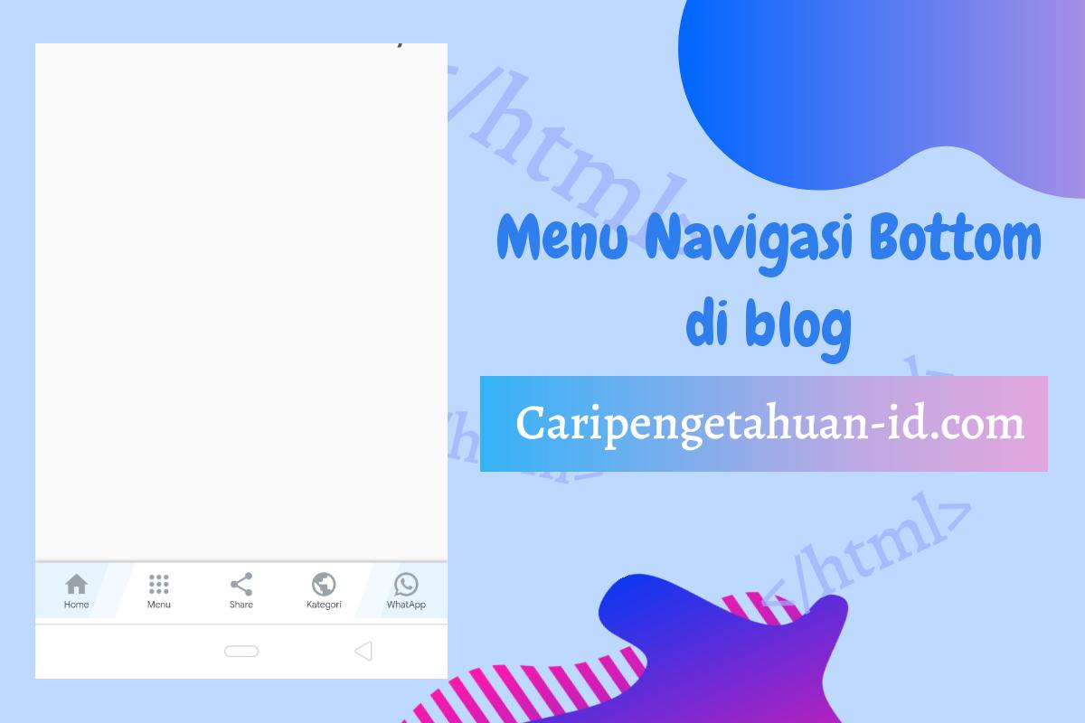 Blogger menu navigation