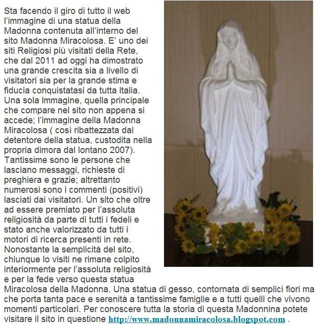La Madonna Miracolosa Una Statua Miracolosa Della Madonna Che Sta
