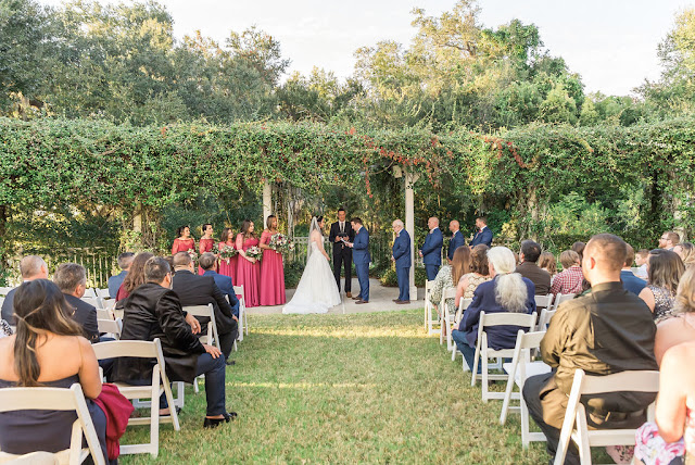 garden trellis wedding ceremony at lake mary events center