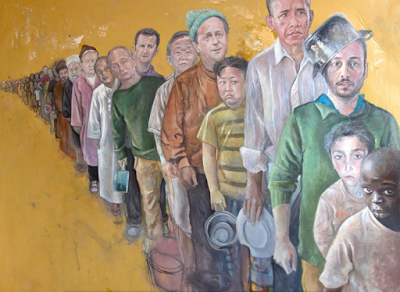 Photos: Syrian artist depicts Trump, Obama, Putin and other world leaders as refugees