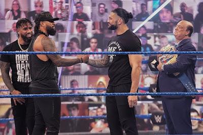 Uso Jey Jimmy Roman Reigns SmackDown Return
