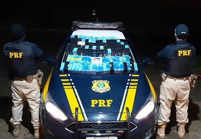 PRF apreende carga de celulares importados em Barra do Turvo