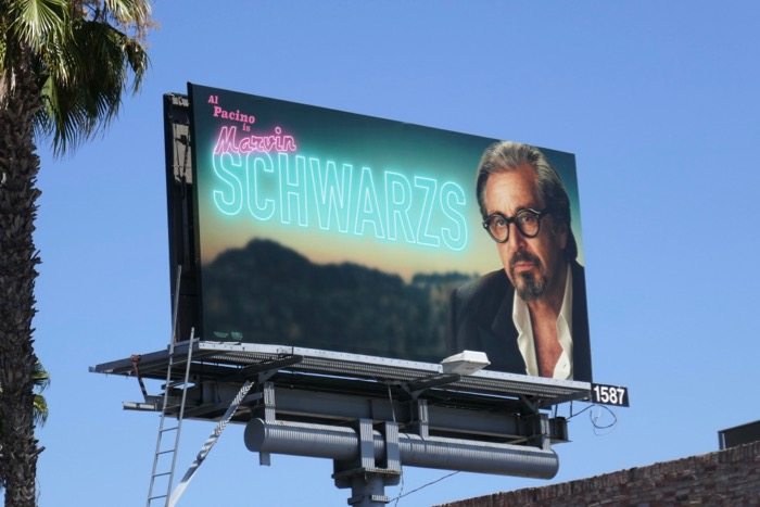 Al Pacino Schwarzs Once Upon a Time in Hollywood billboard