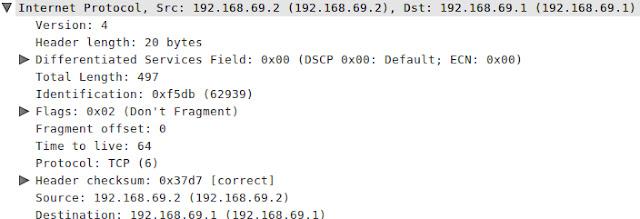 حقول Wireshark IP الإصدار 4