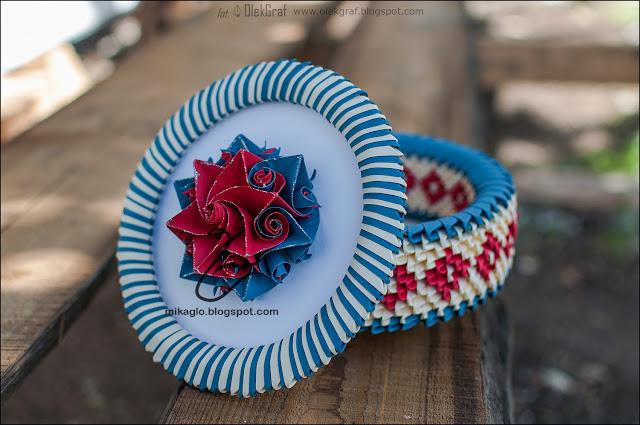 586. Szkatułka z origami / 3d origami flower box