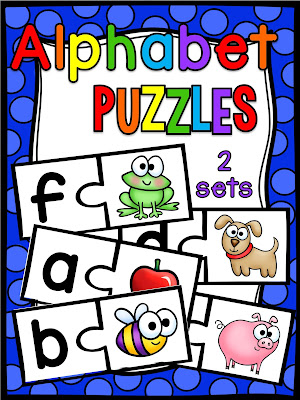 Beginning Sounds Puzzles that make learning alphabet letter sounds so much fun for kids! They're great practice with highly engaging pictures to match to both lowercase and uppercase (it comes in 2 versions) so you can have a lot of review! Perfect for preschoolers, kindergarten literacy centers, homeschooling, or to supplement at home.