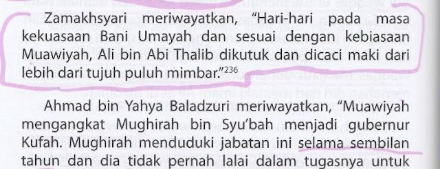 Perowi Syiah Menuduh Muawiyah telah Mengutuk dan Mencaci Maki Ali RA di 70 Mimbar Lebih