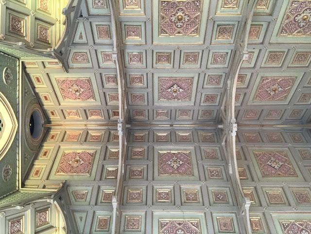 ceiling of Wat Niwet Thammaprawat Gothic Temple, ayutthaya