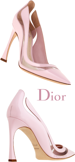 Pink Dior Transparent Pumps #brilliantluxury