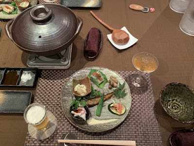 船山温泉の夕食