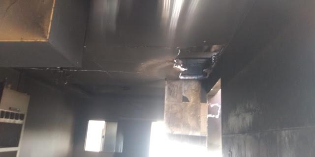 Incêndio deixa casa parcialmente destruída em Luis Eduardo