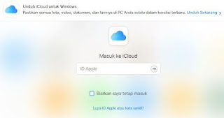 penyimpanan data online di iphone