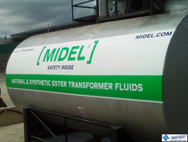 Tank Safety Reflective Sticker - MIDEL