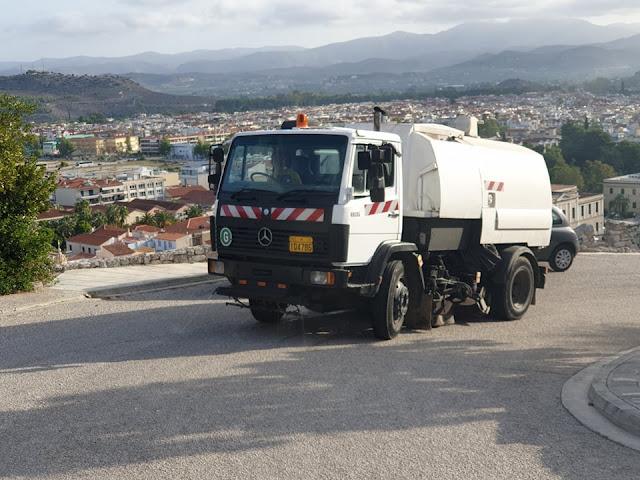 Καθημερινός ο αγώνας για την καθαριότητα στο Δήμο Ναυπλιέων