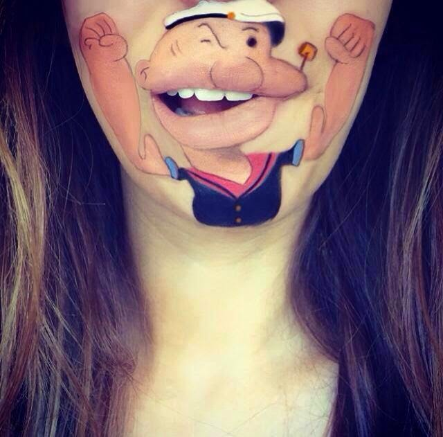 Popeye body painting
