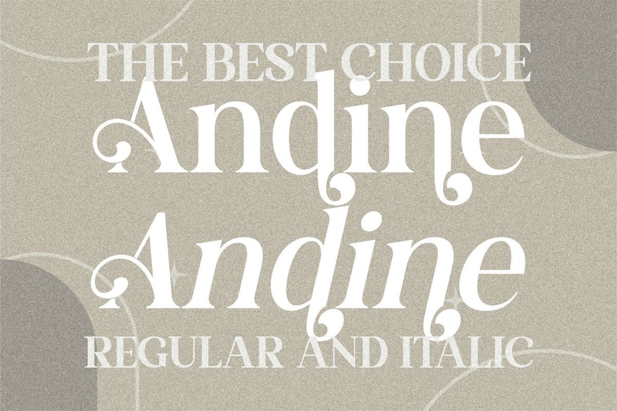 Andine Font - Free Luxury Serif Typeface