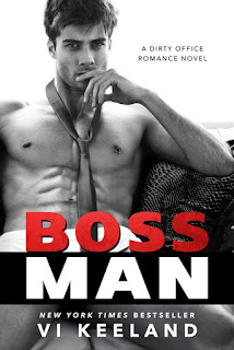 Book cover for Bossman.  Model wearing a tie.