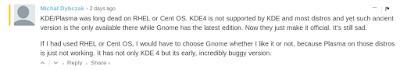 """""""Red Hat killing off KDE"""" - From Fudzilla.com"""