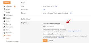 Blogger mein domain kaise set karein ??