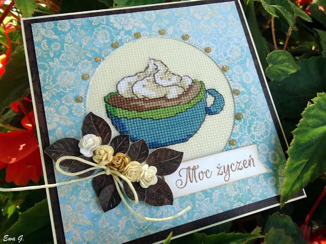 Imieniny miesiąca - kartka dla kawosza