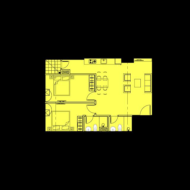 Thiết kế căn hộ B1 - 71m2 tòa River1 EuroWindow River Park