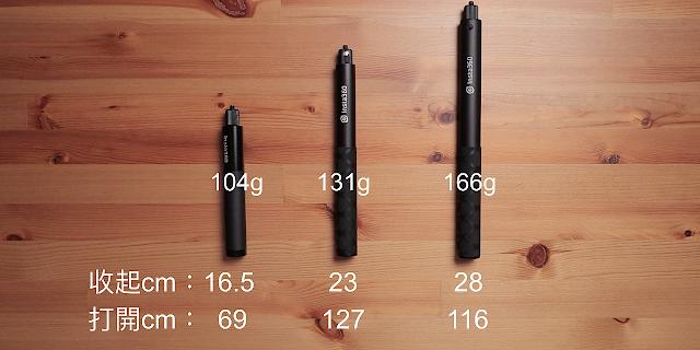 Insta360隱形自拍棍實測參數