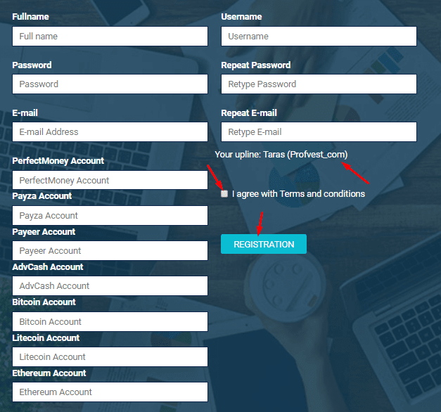 Регистрация в СryptoState 2
