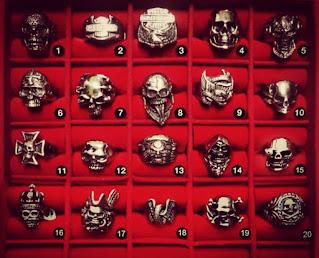 Model cincin Skull Ring (Metal) yang sedang trend hari ini