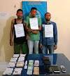 Di Pantee Bidari, Satres Narkoba Polres Aceh Timur Amankan Tiga Pelaku Tindak Pidana Penyalahgunaan Narkotika