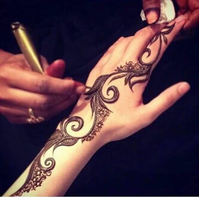 Fancy Henna Mehndi For Girls : Fancy mehndi henna designs for hands l bridal