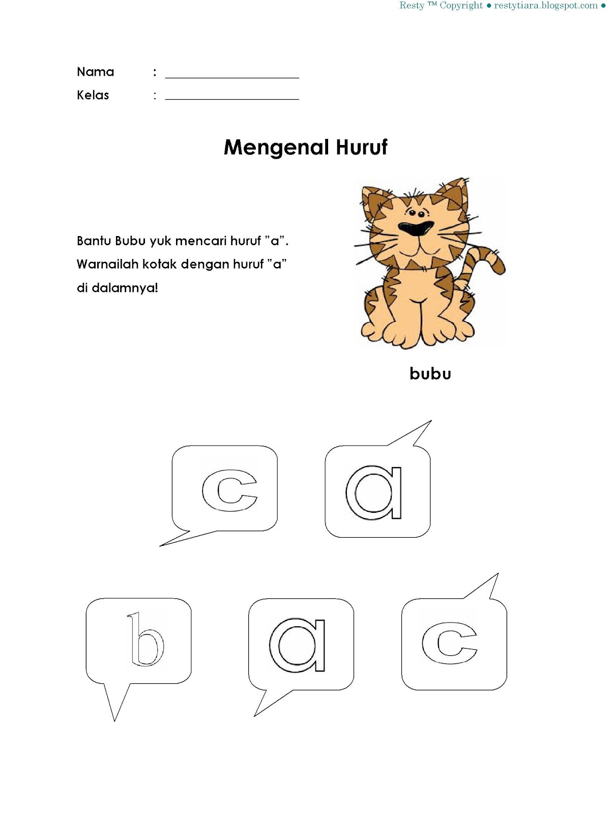 Worksheets Worksheet-belajar-menulis belajar mengenal huruf a learning is fun a
