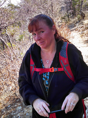 Still feeling good hiking the Guadalupe Mountain Peak trail.