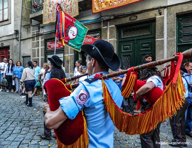 Gaita de foles na Festa de São Gonçalo, Amarante, Portugal