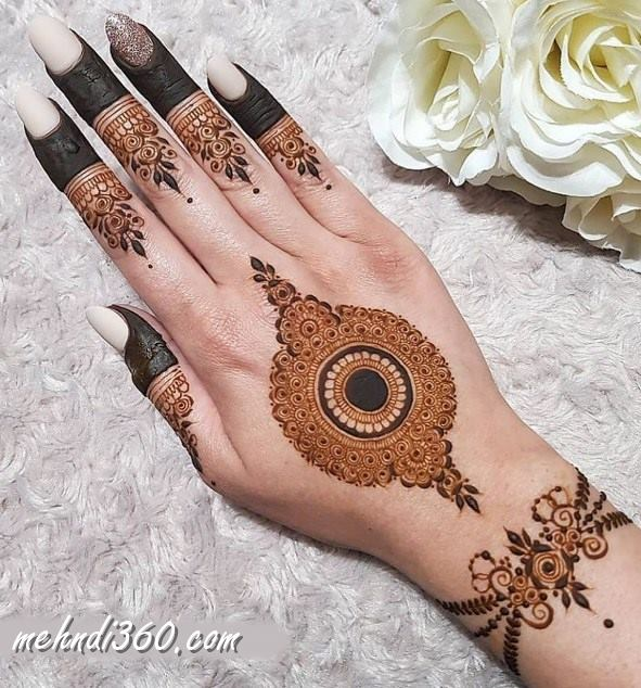 Party Special Henna Design Back Hand
