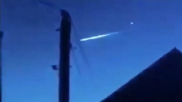 African UFO flies up and away from the meteorite it's hitched a ride with.