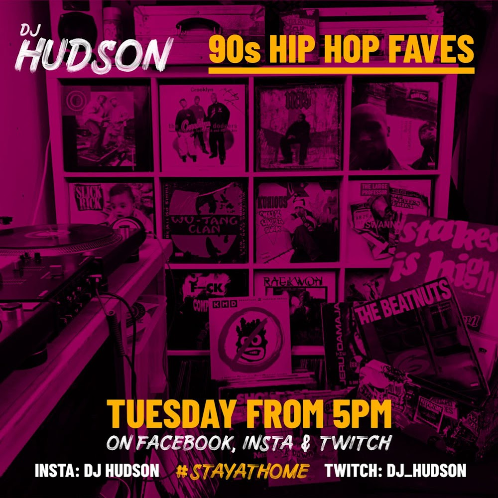 90's Hip Hop - Livestream Sessions   DJ Hudson Mixtape