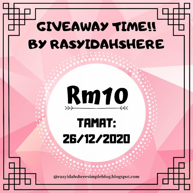 Giveaway by Rasyidahsheresimpleblog