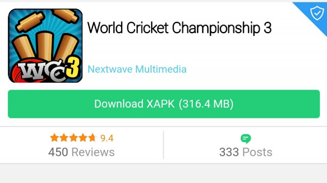 World Cricket Champion 3 WCC3 Apk Download ~ World Game