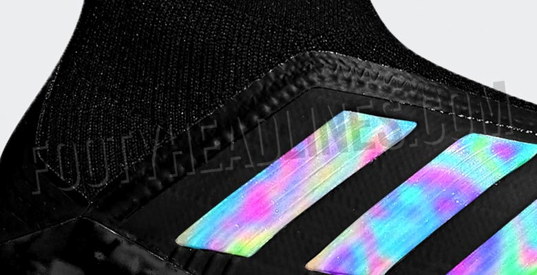 d19b8278a50f Part of the so-called 'Shadow Mode' pack, the black and iridescent Adidas  Predator 18+ and 18.1 2018-2019 cleats are set to drop in July.
