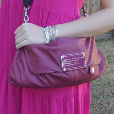Marc by Marc Jacobs Dr Q Convertible clutch in electric violet | away from the blue